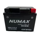Batterie  Numax AGM SLA scellée  YB4L-B SLA  12 V 4 AH 45 AMPS EN
