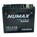 Batterie  Numax AGM SLA scellée  YS1218  12 V 20 AH 275 AMPS EN