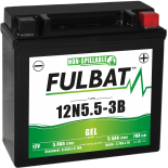 Batterie Fulbat GEL SLA 12N5.5-3B GEL 12V 5.5AH 70 AMPS  135x60x130  + Droite