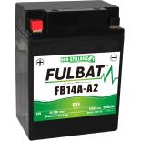 Batterie Fulbat GEL SLA FB14A-A2  GEL 12V 14AH 200 AMPS  134x88x176  + Gauche