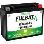 Batterie Fulbat GEL SLA FTX24HL-BS / F50-N18L-A3 GEL 12V 21AH 350 AMPS  205x87x162  + Droite