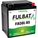 Batterie Fulbat GEL SLA FIX30L-BS GEL 12V 30AH 400 AMPS  165x125x175  + Droite