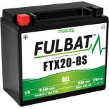 Batterie Fulbat GEL SLA FTX20-BS GEL 12V 18AH 270 AMPS  175x87x155  + Gauche