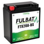 Batterie Fulbat GEL SLA FTX20A-BS GEL 12V 18AH 270 AMPS  150x57x161  + Gauche