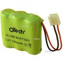 Batterie de téléphone Ni-Mh 3.6V 280mAh 3x1 / 2AA avec JST-EHR2