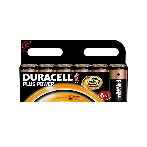 6 piles LR14 C Duracell Plus Power sous blister