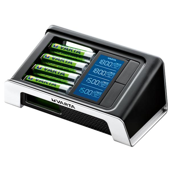 Chargeur de piles rechargeables Varta LCD Ultra Rapide + 4 ...