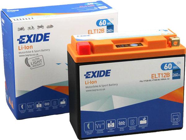 Batterie moto Exide Lithium ELT12B 12V / 60Wh