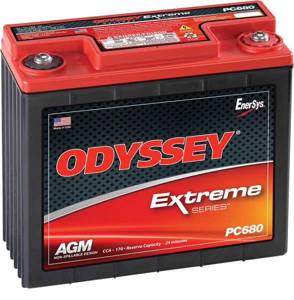 Batterie plomb pur Odyssey 12V PC680 / Extreme Racing 25