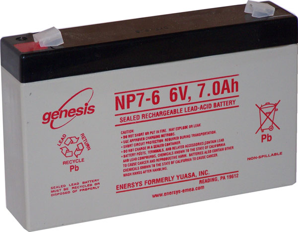 BATTERIE PLOMB ETANCHE ENERSYS NP7-6 - 6V 7Ah