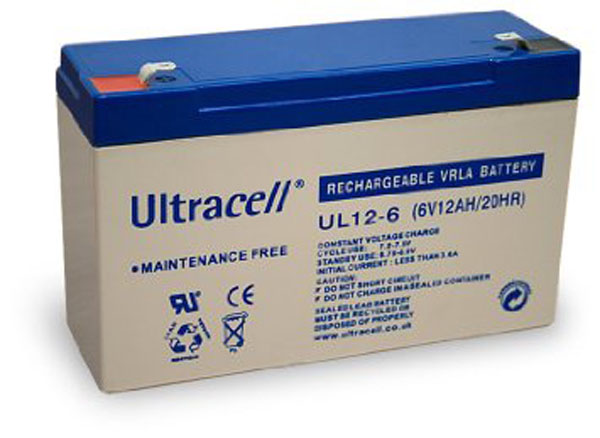 BATTERIE PLOMB ETANCHE ULTRACELL UL12-6 / NP12-6 - 6V 12Ah