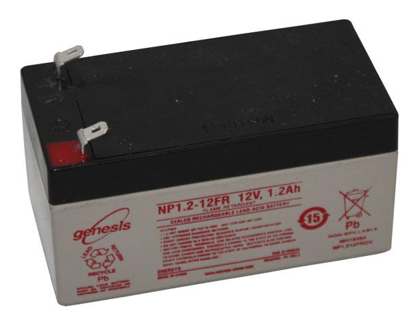 BATTERIE PLOMB ETANCHE ENERSYS NP1.2-12 étroite - 12V 1.2Ah