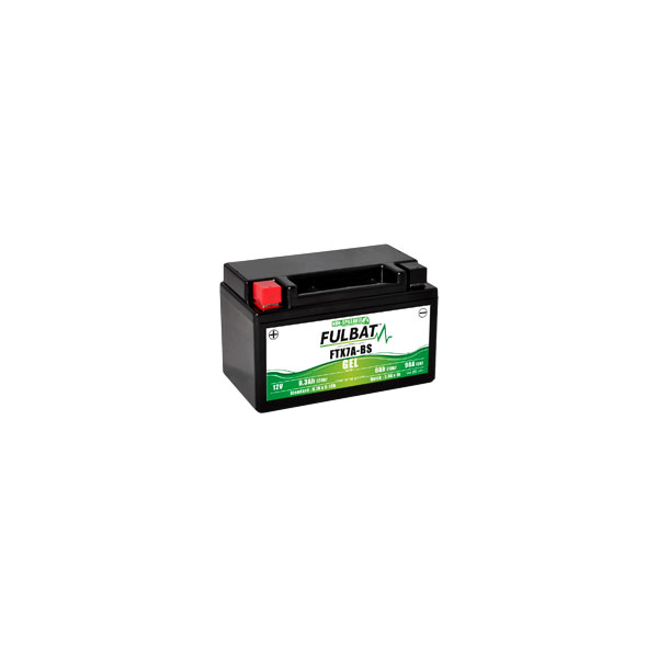 Batterie moto YTX7A-BS étanche Gel 12V / 6Ah