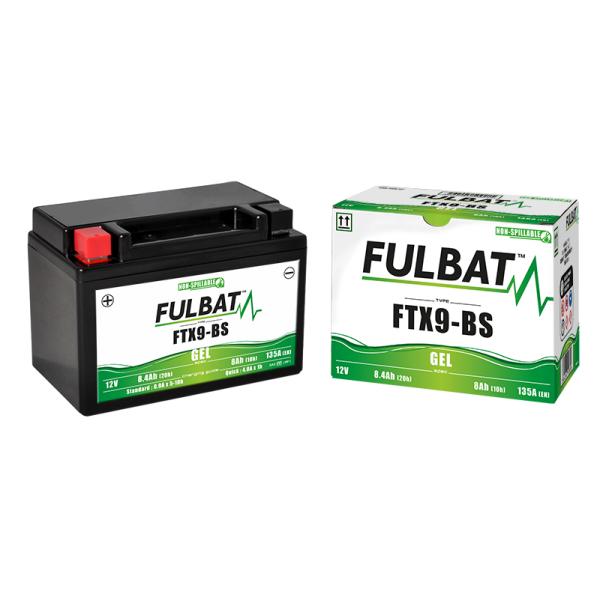 Batterie moto YTX9-BS étanche 12V / 8Ah