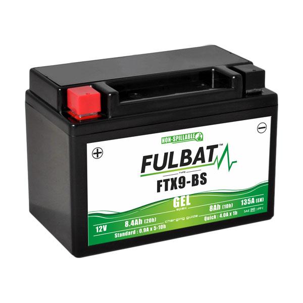 batterie moto wp9bs etanche au gel 12v / 8ah