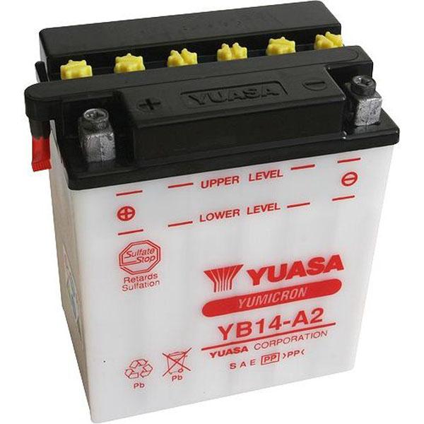 Batterie moto Yuasa YB14-A2 12V / 14Ah