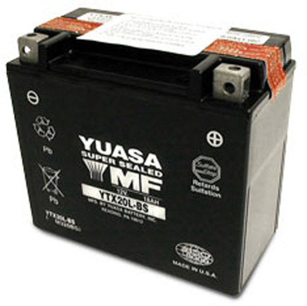 batterie moto etanche yuasa 12v / 18ah ytx20l-bs