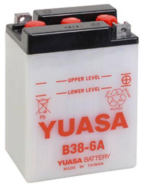 Batterie moto Yuasa B38-6A 6V / 13Ah