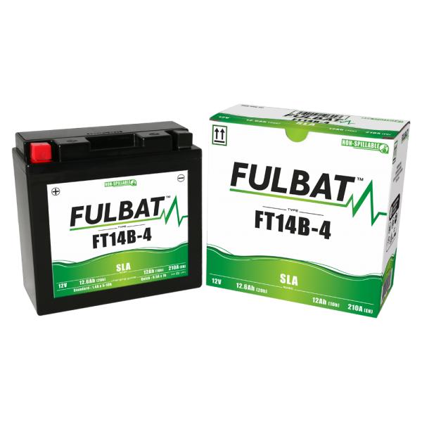 Batterie moto YT14B-4 étanche AGM 12V / 12Ah