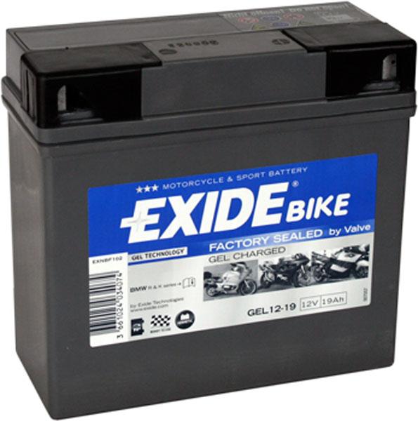 Batterie moto Exide GEL12-19 étanche au gel 12V / 19Ah