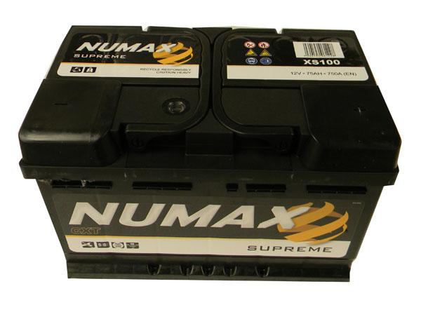 Batterie De Demarrage Numax Supreme Lb3 Xs100 12v 75ah 750a